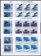 KV089 2003 SAO TOME & PRINCIPE FAUNA MARINE LIFE DOLPHINS !!! 6SET MNH - Dolphins