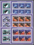 KV135 2002 MOZAMBIQUE ANIMALS & FAUNA KILLER WHALES 6SET MNH - Whales