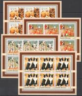 KV281 2003 GUINEA-BISSAU FAUNA PETS CATS & DOGS PUPPIES & KITTENS !!! 6SET MNH - Domestic Cats