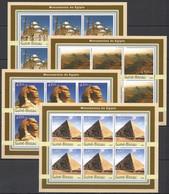 KV285 2003 GUINEA-BISSAU ART ARCHITECTURE MONUMENTS OF EGYPT !!! 6SET MNH - Monumenten