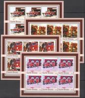 KV287 2003 GUINEA-BISSAU TRANSPORT FIREFIGHTERS BRIGADE FIRE TRUCKS !!! 6SET MNH - Trucks