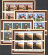 KV295 2003 GUINEA-BISSAU ARCHITECTURE MARINE LIFE LIGHTHOUSES FAROIS !!! 6SET MNH - Lighthouses