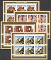 KV300 IMPERFORATE 2003 GUINEA-BISSAU ART MONUMENTS OF EGYPT !!! 6SET MNH - Monumenten