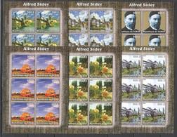 KV311 2002 TCHAD ART PAINTINGS ALFRED SISLEY 6SET MNH - Other