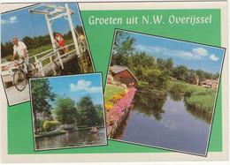 Groeten Uit N.W. Overijssel - (o.a. Fiets, Bruggetje, Kano) - Andere