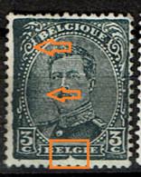 183 (*)  Très Empâté à Gauche Et V Cadre Inf. Brisé - Abarten (Katalog COB)
