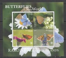 MV08 2020 RAROTONGA BUTTERFLIES OF THE WORLD FLORA & FAUNA KB MNH - Mariposas