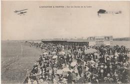 R9-44) L'AVIATION A NANTES - SUR LES BORDS DE LA LOIRE - (LA FOUME - AEROPLANES - AVIONS -  (2 SCANS) - Nantes