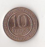 FRANCE PIECE  10 FRANCS  MILLENAIRE CAPETIEN 1987 - K. 10 Franchi