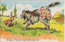 "ILLUSTRATEUR PAUL ORDNER - CHASSE - LE LAPIN "" TOI , TU RISQUE PLUS QUE MOI ""  - (PHOTOCHROM N° 1415 - 2 SCANS) - Ordner, P."