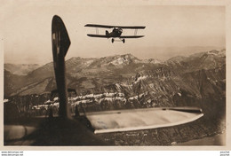 FLUGZEUGE UBER DEM BRIENZERSEE (3000 M.) CARTE PHOTO AVION - EDITION GUGGENHEIM & C°, ZURICH , SUISSE - (1924 -2 SCANS) - 1919-1938