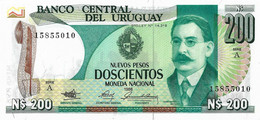 URUGUAY 1986 200 Nuevo Peso - P.66a Neuf UNC - Uruguay