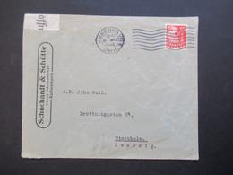 Dänemark 1940 Zensurbeleg OKW Zensurstreifen Geöffnet Roter Zensurstempel Umschlag Schuchardt & Schütte Nach Stockholm - Cartas
