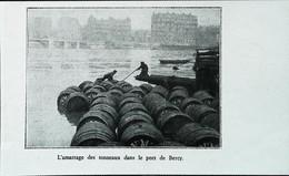 ► 1931 PARIS Insolite - Amarrage Des Tonneaux De Vin Port De Bercy    - Coupure De Presse (Encadré Photo) - Historical Documents