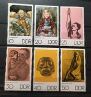 (1355L) DDR 1970 : Sc# 1234-1239 ART WORKS BY NAGEL KOLLWITZ BARLACH - MNH VF - Ongebruikt