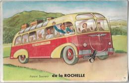 Joyeux Souvenir De LA ROCHELLE - Carte à Système Dépliant 10 Vues (car De Touristes) - La Rochelle