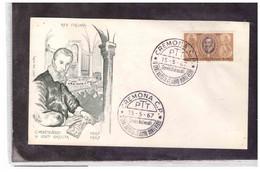 FDC6604  -   CREMONA  15.5.1967 /   FDC   4°  CENTENARIO DELLA NASCITA DI CLAUDIO MONTEVERDI  ( MUSICA ) - F.D.C.