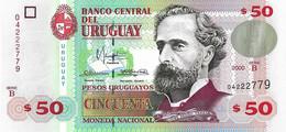 URUGUAY 2000 50 Peso - P.75b Neuf UNC - Uruguay