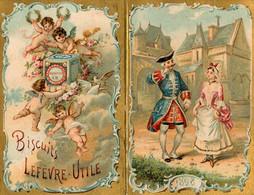 Petit Calendrier Ancien 1898 !!! * Biscuits Lefèvre Utile LU Biscuiterie Usine Nantes * Calendar Illustré - Small : ...-1900