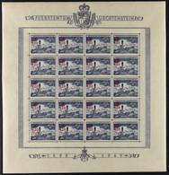 LIECHTENSTEIN,PROVISIONAL 1.20 On 40 1952 IN FULL SHEET - Unused Stamps