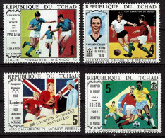 TCHAD  N° 221A/C  PA  74A  * *  Cup 1970  Football Soccer  Fussball  Jo 1972 - 1970 – Mexique