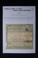 FRANCE - Colis Postal De Castelnau Rivière En 1943 Pour Paris , Sur Feuille D'une Belle Collection 1939/45 - L 85000 - Cartas