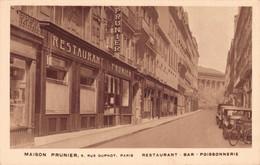 75 MAISON PRUNIER 9 RUE DUPHOT PARIS RESTAURANT BAR POISSONNERIE - Cafés, Hôtels, Restaurants