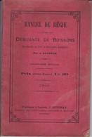 LIVRE – DEBIT DE BOISSONS – MANUEL DE REGIE – 1899. - 1801-1900