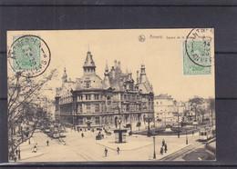 Belgique - Carte Postale De 1920 - Oblit Antwerpen - Exp Vers Wien - Vue D'Anvers - Square De La Banque Nationale - Cartas