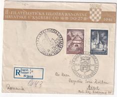 YOUGOSLAVIE 1941 LETTRE RECOMMANDEE DE ZAGREB - Storia Postale