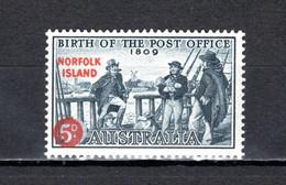 NORFOLK  N° 25   NEUF SANS CHARNIERE COTE  2.00€   SERVICE POSTAL - Ile Norfolk