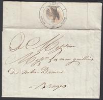 Belgique 1807 - Precurseur De Bruges à Desstination Bruges. Cachet Français Aigle Au Verso..... (DD) DC-9911 - Otros