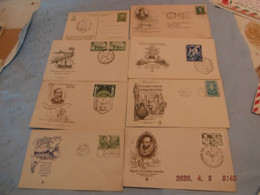 Lot ,fdc Lettres - Collections, Lots & Séries