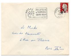 ISERE - Dépt N° 38 = GRENOBLE GARE 1963 = FLAMME SECAP Illustrée  ' PHILATEC 1964' - Maschinenstempel (Werbestempel)