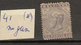 Belgie - Belgique Ocb Nr :  41 (*) No Gum (zie Scan) - 1883 Leopoldo II