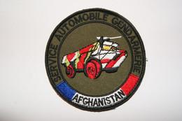 PATCH ECUSSON INSIGNE PVC GENDARMERIE SERVICE AUTOMOBILE GENDARMERIE AFGHANISTAN VAB - Policia