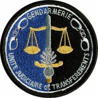 PATCH ECUSSON INSIGNE  GENDARMERIE UNITE JUDICIAIRE ET TRANSFEREMENTS - Policia