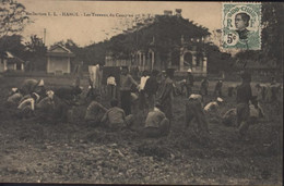 CPA Indochine Viet Nam Vietnam Tonkin Hanoi Les Travaux Du Camp Au 1er T.T Collection LL YT 44 Indo Chine - Vietnam