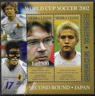 SIERRA LEONE  BF 548  * * ( Cote 10e ) Cup 202 Football Fussball Soccer Troussier Inamoto - 2002 – Corea Del Sur / Japón