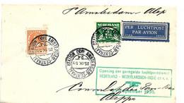Nl316 / NIEDERLANDE - Mit Dem Eröffnungsflug Amsterdam - Niedl. Indien 1930 Nach SYRIEN Befördert - Brieven En Documenten