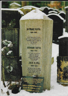 Franz Kafka Grave Cemetery Prague Czech 2003 Postcard Judaica - Giudaismo