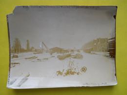 Photo T I V , En Gare De Rennes La Touche , Collection Guittet, Par Temps De Neige - Treni