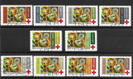 A Saisir : Série Croix-Rouge N° 1863/72 De L'année 2020 - Luchtpost