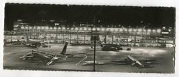 AVIATION Carte Panoramique Aéroport De PARIS ORLY Aire Staionnement Aérogare De Nuit Avions Air FRance  D02 2021 - Vliegvelden