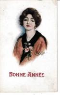 JEUNE. FEMME  ( Signé. MARJORIE   MOSTYN  ). CPA. ( 21 / 1 / 190  ) - Andere Illustrators