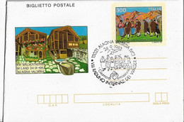 Biglietto Postale RADUNO INTERNAZ. VALSESIA 1983; AS_Alagna Valsesia - Interi Postali