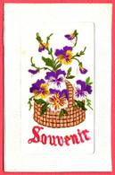 Carte Brodée - Souvenir - Embroidered