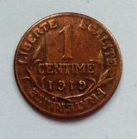 FRANCE DUPUIS 1 CENTIME 1919 (B1235) - A. 1 Centime