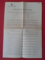 ANTIGUO DOCUMENTO HOJA ESCRITO DEL FÚTBOL CLUB BARCELONA PROYECTO DE AYUDA SOCIAL 1962 SOCIOS BARÇA DOCUMENT SOCCER SOCI - Otros