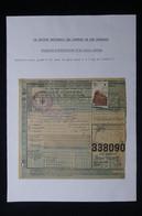 FRANCE - Bulletin De Colis Postal En 1943 Avec Cachet Croix Rouge De Bellac Pour Paris  - L 85024 - Cartas